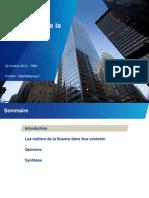 Les métiers de la Finance - RMS 22 Oct 2012 KPMG