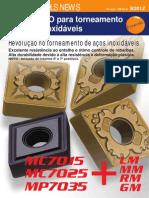 Insertos ISO para torneamento de aços inoxidáveis