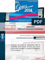 Curso Opus 2014 Modulo i