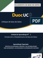 Unidad 1 N°1 Enfoque  de Base de Datos