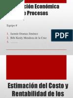 JAZMIN ORAMAS Estimación del costo y rentabilidad de los procesoS
