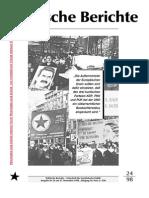 Politische Berichte Nr.24 / 1998