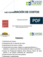 Edgard Carmen Determinacion de Costos