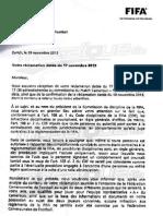 Fifa Decision Reserve Tunisie Cameroun Mondial 2014