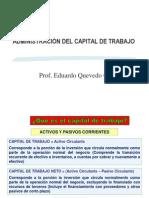 5.- Administración del Capital de Trabajo 2012