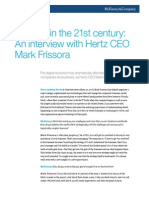 Leading in the 21st Century an Interview With Hertz CEO Mark Frissora