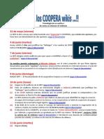 Cronología de los hechos más importantes en el cierre de COOPERA