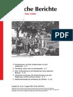 Politische Berichte Nr.08 / 2013
