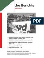 Politische Berichte Nr.09 / 2013