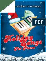 The Piano Encyclopedia Holiday Songs Book