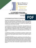 Aguilar José A.. Contemplación para alcanzar amor y ecología