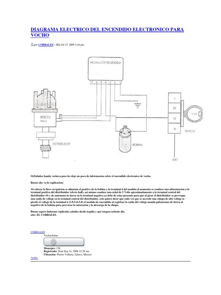 Diagrama Para Conectar Encendido Electronico Para Vocho Waidisthemeolin S Blog