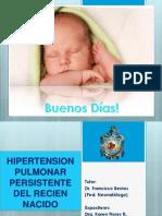 Hipertension Pulmonar Persistente Del Recien Nacido