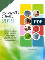 Rapport OMD 2012 _ Évaluation des progrès accomplis en Afrique dans la réalisation des objectifs du Millénaire pour le développement