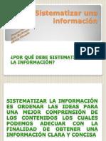 sistematizar una informacin taller 11