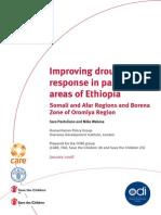 Improving drought  response in pastoral areas of Ethiopia