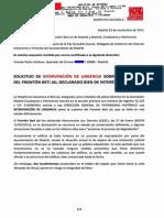 Solicitud Intervención de URGENCIA en el Beti-Jai (25/11/2013)