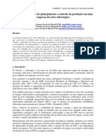 Análise dos sistemas de planejamento e controle da produção em uma empresa do setor siderúrgico