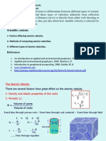 Lecture 5 Seismic Velocites