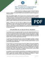 Médicos del Mundo - Informe de Salud 2013