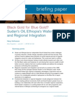 Black Gold for Blue Gold? Sudan's Oil, Ethiopia's Water and Regional Integration