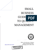 Small Buiseness Guidebook to Quality Management