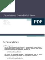 Formulación en Contabilidad de Costos presentación