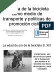 Historia de la bicicleta como medio de transporte