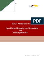 B2-C1 Modellsatz Nr.4, SK Hinweise Zur Bewertung