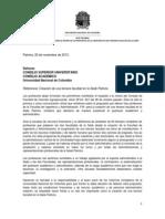Carta sobre creación nueva facultad