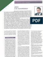 Normes comptables I - De la légitimité du normalisateur