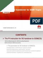 Omantel 3G Handover to GSM Parameter Study Report