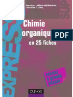 Chimie Organique 25 Fiches