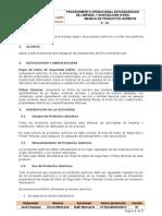 P - 10 POES Manejo de productos químicos