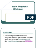 Modul or - Simpleks Minimum