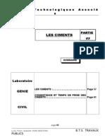 Cours Labo Partie 3 - Les Ciments