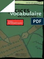Exercices de Vocabulaire en Contexte Intermediaire Anne Akyuz