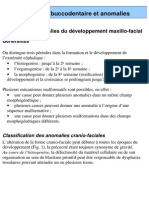 Developpement Buccodentaire Et Anomalies