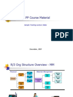 Sample SAP MM PP Course Material