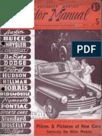 Motor Manual August 1946