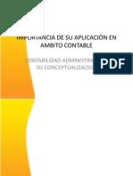 IMPORTANCIA DE SU APLICACIÓN EN AMBITO CONTABLE