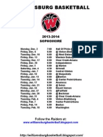 Williamsburg 9th - 10th Schedule 13-14