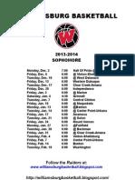 Williamsburg 10th Schedule 13-14