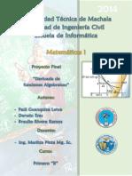Informe Proyecto de Matematicas