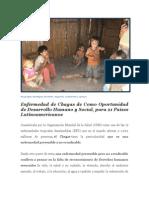 Enfermedad de Chagas como Oportunidad de Desarrollo Humano y Social para 21 países Latinoamericanos