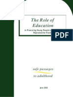 Safe Passages - The Role of Education in Promoting Young People's SRH