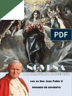 Novena a La Inmaculada Concepción de María con San Juan Pablo II y rosario de adviento