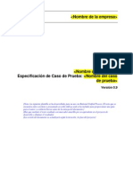 Plantilla Especificacion de Caso de Prueba