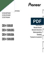 Manual Pioneer DEH-1500UB