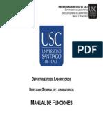 Manual de Funciones Departamento de Laboratorios